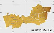 Physical Map of Shinyanga, single color outside