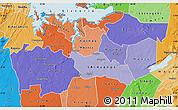 Political Shades Map of Shinyanga