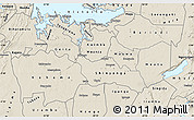 Shaded Relief Map of Shinyanga