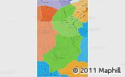 Political Shades 3D Map of Singida