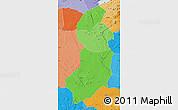 Political Shades Map of Singida