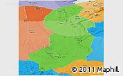 Political Shades Panoramic Map of Singida