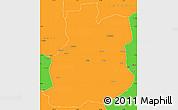 Political Simple Map of Urambo