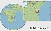 Savanna Style Location Map of Lushoto