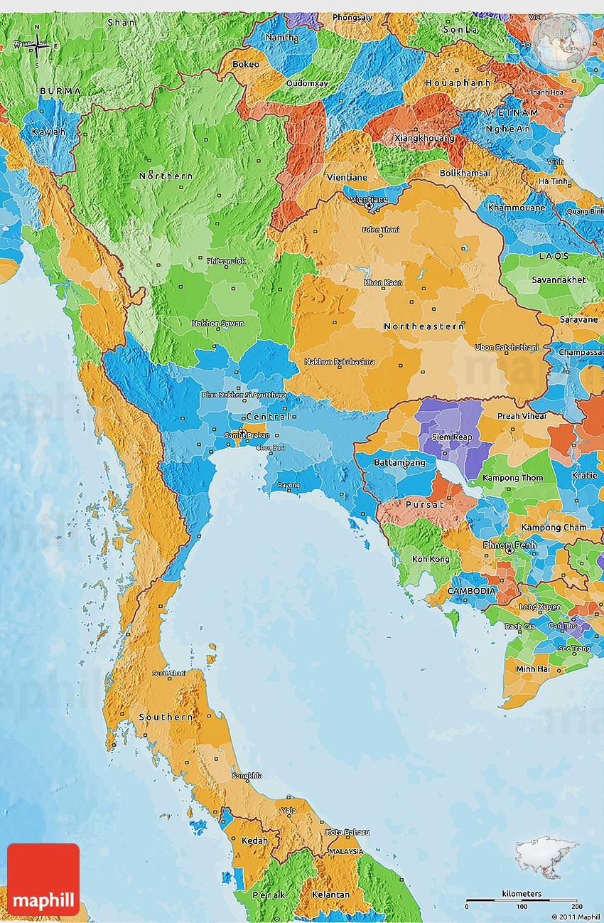 Political 3d map of thailand 2d 203 3d 203 gumiabroncs Images