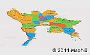Political Panoramic Map of Central, cropped outside