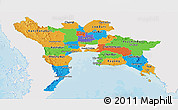 Political Panoramic Map of Central, single color outside