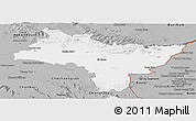 Gray Panoramic Map of Prachin Buri