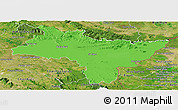 Political Panoramic Map of Prachin Buri, satellite outside