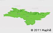 Political Panoramic Map of Prachin Buri, single color outside