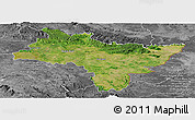 Satellite Panoramic Map of Prachin Buri, desaturated