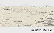 Shaded Relief Panoramic Map of Prachin Buri