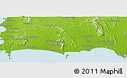 Physical Panoramic Map of Rayong