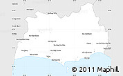 Silver Style Simple Map of Rayong