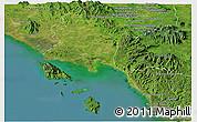 Satellite Panoramic Map of Trat