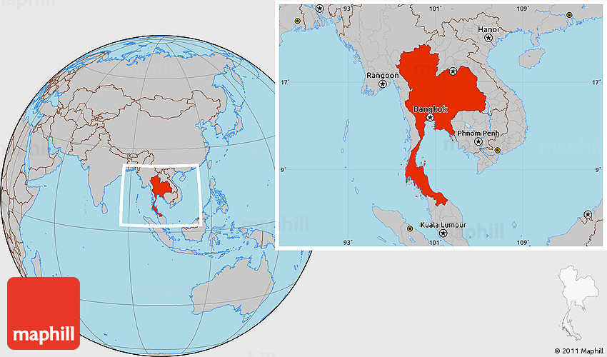 Gray location map of thailand gumiabroncs Images