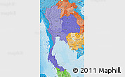 Political Shades Map of Thailand