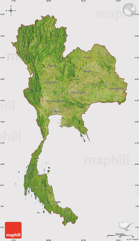 Thailand Satelliten-Karte