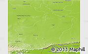 Physical Panoramic Map of Buri Rum