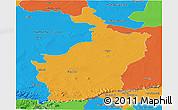 Political Panoramic Map of Buri Rum