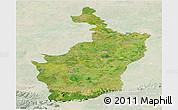 Satellite Panoramic Map of Buri Rum, lighten