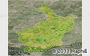Satellite Panoramic Map of Buri Rum, semi-desaturated