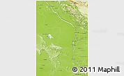Physical 3D Map of Nakhon Phanom & Mukdahan