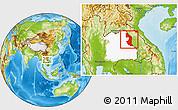 Physical Location Map of Nakhon Phanom & Mukdahan, highlighted parent region