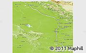 Physical Panoramic Map of Nakhon Phanom & Mukdahan