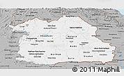 Gray Panoramic Map of Northeastern