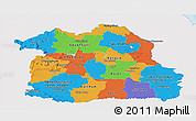 Political Panoramic Map of Northeastern, single color outside