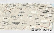 Shaded Relief Panoramic Map of Northeastern