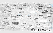 Silver Style Panoramic Map of Northeastern
