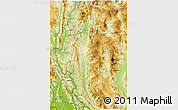Physical 3D Map of Mae Hong Son