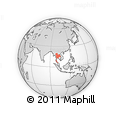 Outline Map of Thailand