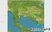 Satellite Panoramic Map of Thailand