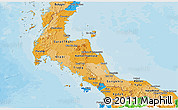 Political Shades Panoramic Map of Southern