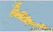 Savanna Style Panoramic Map of Southern