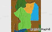 Political Map of Centre, darken