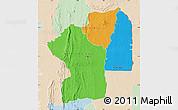Political Map of Centre, lighten