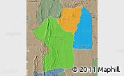 Political Map of Centre, semi-desaturated