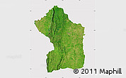 Satellite Map of Sotouboua, cropped outside