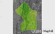 Satellite Map of Sotouboua, desaturated