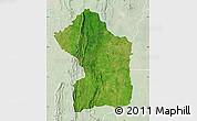 Satellite Map of Sotouboua, lighten