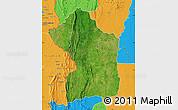 Satellite Map of Sotouboua, political outside