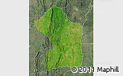 Satellite Map of Sotouboua, semi-desaturated