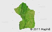 Satellite Map of Sotouboua, single color outside