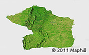Satellite Panoramic Map of Sotouboua, single color outside