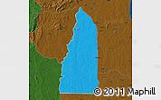 Political Map of Tchamba (Nyala), darken
