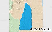 Political Map of Tchamba (Nyala), lighten